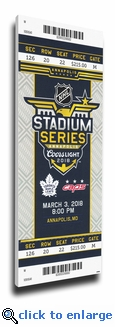 2018 NHL Stadium Series Canvas Mega Ticket - Maple Leafs vs Capitals