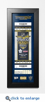 2018 NHL Stadium Series Framed Ticket Print- Maple Leafs vs Capitals