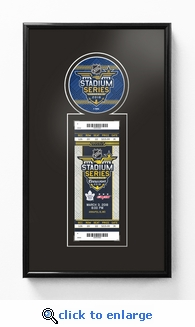 2018 NHL Stadium Series Single Ticket Frame - Maple Leafs vs Capitals