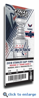 2018 NHL Stanley Cup Final Game 4 Canvas Commemorative Mega Ticket - Knights at Captials