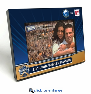 2018 NHL Winter Classic 4x6-inch Black Wood Edge Picture Frame - Rangers vs Sabres