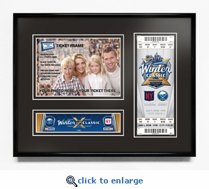 2018 NHL Winter Classic 5x7 Photo Ticket Frame - Rangers vs Sabres
