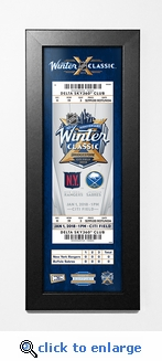 2018 NHL Winter Classic Framed Ticket Print- Rangers vs Sabres