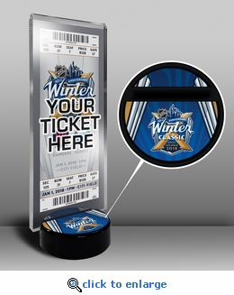 2018 NHL Winter Classic Hockey Puck Ticket Display Stand - Rangers vs Sabres