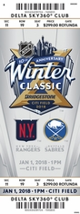 2018 NHL Winter Classic - Rangers vs Sabres