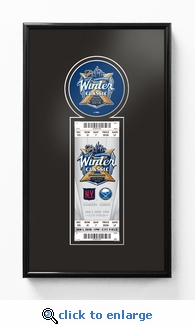 2018 NHL Winter Classic Single Ticket Frame - Rangers vs Sabres