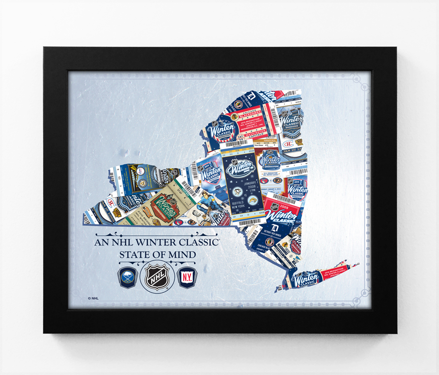 the latest 633a8 dcacd 2018 NHL Winter Classic State of Mind Framed Print (New York) - Rangers vs  Sabres