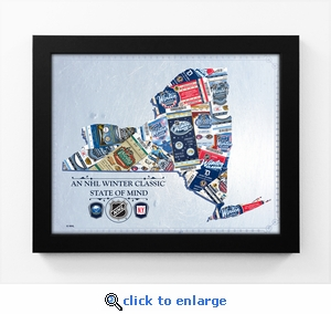 2018 NHL Winter Classic State of Mind Framed Print (New York) - Rangers vs Sabres