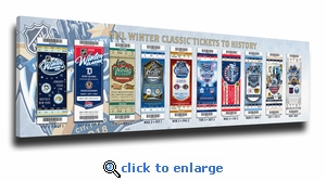 2018 NHL Winter Classic Tickets to History Canvas Print - Rangers vs Sabres