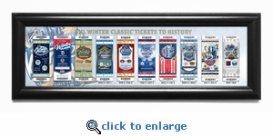 2018 NHL Winter Classic Tickets to History Framed Print - Rangers vs Sabres