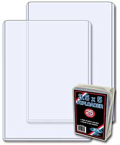 3.5 x 5 Vertical Ticket Topload Holder - 25 Pack