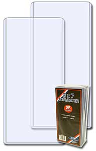3 x 7 Vertical Ticket Topload Holder - 25 Pack