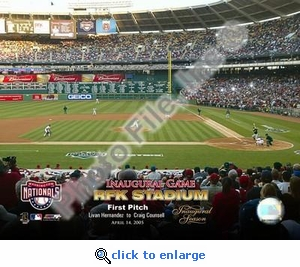 4/14/05 Inaugural Game RFK Stadium 1st Pitch 8x10 Photo
