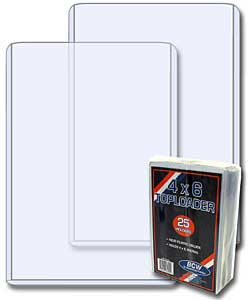 4 x 6 Vertical Ticket Topload Holder - 25 Pack