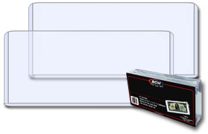 7.75 x 3.5 Horizontal Large Currency / Ticket Topload Holder - 25 Pack