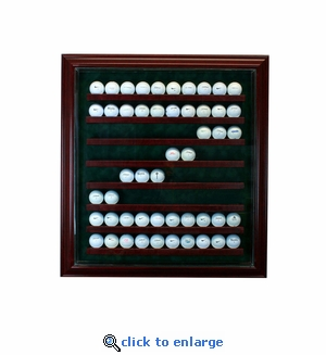 80 Golf Ball Cabinet Style Display Case - Cherry