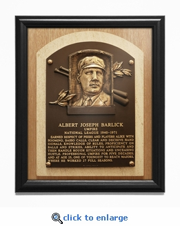 Al Barlick Baseball Hall of Fame Plaque Framed Print - Umpire
