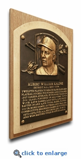 Al Kaline Baseball Hall of Fame Plaque on Canvas - Detroit Tigers