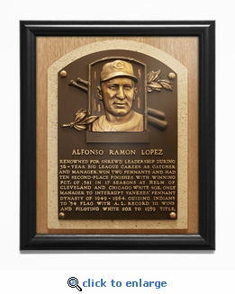 Al Lopez Baseball Hall of Fame Plaque Framed Print - Cleveland Indians