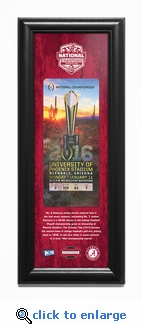 Alabama Crimson Tide 2015 Football National Champions Framed Ticket Print