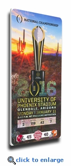 Alabama Crimson Tide 2015 Football National Champions Commemorative Canvas Mega Ticket