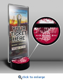 Alabama Crimson Tide 2015 Football National Champions Ticket Display Stand