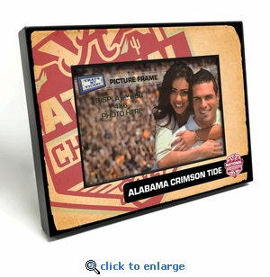 Alabama Crimson Tide 2015 Football National Champions Black Wood Edge 4x6-inch Picture Frame