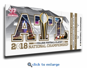 Alabama Crimson Tide 2017 Football National Champions Canvas Mega Ticket