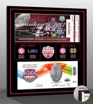 Alabama Crimson Tide Back to Back National Champions Tickets to History Canvas Print