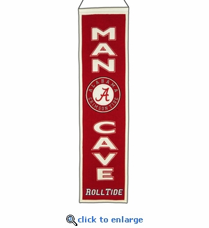 Alabama Crimson Tide Man Cave Wool Banner (8 x 32)