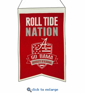 Alabama Crimson Tide Nations Wool Banner (14 x 22)
