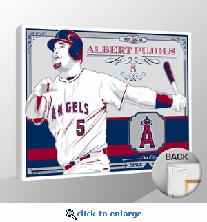 Albert Pujols Sports Propaganda Canvas Print - Angels