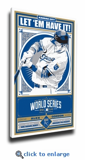 Alex Gordon 2014 World Series Sports Propaganda Canvas Print - Kansas City Royals