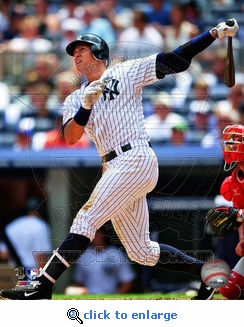 Alex Rodriguez 600th Homerun Hit 8x10 Photo - New York Yankees