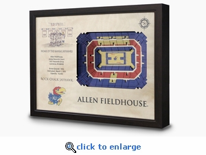 Allen Fieldhouse 3-D Wall Art - Kansas Jayhawks Basketball