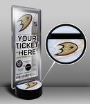 Anaheim Ducks Hockey Puck Ticket Display Stand