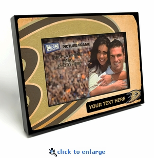 Anaheim Ducks Personalized Vintage Style Black Wood Edge 4x6 inch Picture Frame