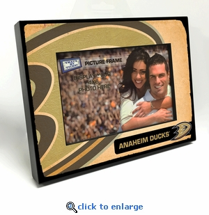 Anaheim Ducks Vintage Style Black Wood Edge 4x6 inch Picture Frame