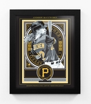 Andrew McCutchen Sports Propaganda Framed 13x16 Digital Print - Pirates