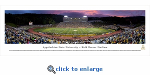 Appalachian State Football - Twilight - Panoramic Photo (13.5 x 40)