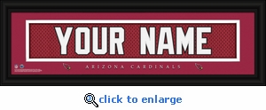Arizona Cardinals Personalized Stitched Jersey Nameplate Framed Print