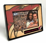 Arizona Coyotes Vintage Style Black Wood Edge 4x6 inch Picture Frame