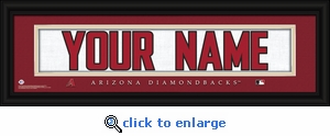 Arizona Diamondbacks Personalized Stitched Jersey Nameplate Framed Print