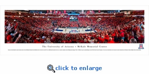 Arizona Wildcats Basketball - Panoramic Photo (13.5 x 40)