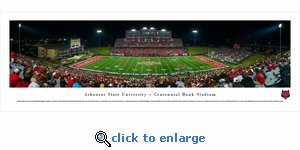 Arkansas State Red Wolves Football - Panoramic Photo (13.5 x 40)
