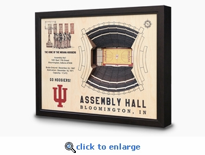 Assembly Hall 3-D Wall Art - Indiana Hoosiers Basketball