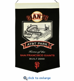 AT&T Park Wool Banner (20 x 15) - San Francisco Giants