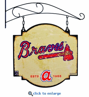 Atlanta Braves 16 X 16 Metal Tavern / Pub Sign