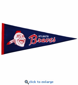 Atlanta Braves Cooperstown Wool Pennant (13 x 32)