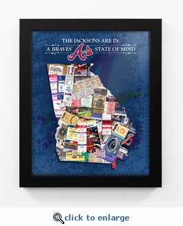 Atlanta Braves Personalized State of Mind Framed Print - Georgia